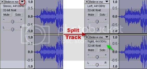 audacity vocal removal from MP3 song